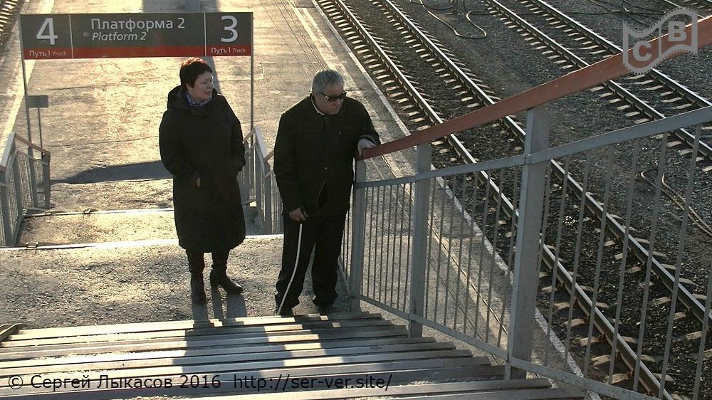 """Автор сценария д/ф """"Музы не молчат"""" и герой фильма, слепой композитор Сергей Хрюкин на Жд вокзале г.Тюмень"""